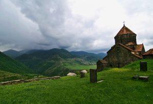 Haghpat Kloster und die Berge