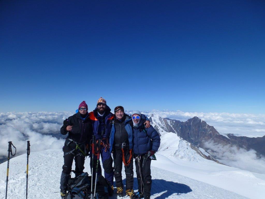 Gipfelfoto Tour  Kasbek von Norden 2015