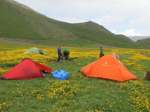 Das erste Lager - Start der Tour von Norden