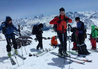 Elbrus Skitour Überschreitung